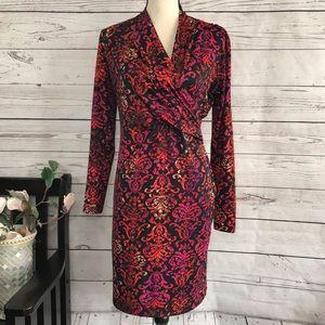 Amelia Geometric Empire Waist Stretch Dress
